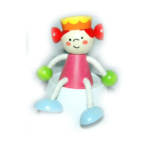 Holzspielzeug Schwingfigur Prinzessin BxLxH 100x70x120mm NEU