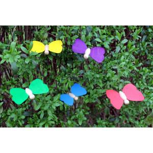 Holzspielzeug 5 Holzschmetterling im Set Schmetterling 9 x 7cm NEU