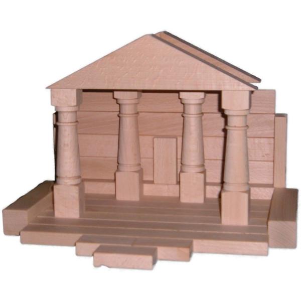 Holzspielzeug Baukasten Domizil 2 natur BxHxT 37,5x28,5x4,5cm NEU