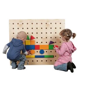 Holzspielzeug Wand-Steckspiel groß LxBxH 950x850x100mm NEU