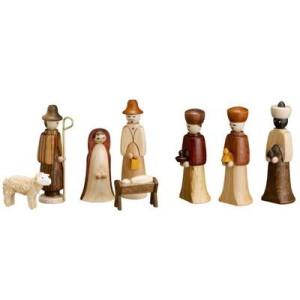 8 teilig Krippenfiguren 5,5 cm Seiffen Erzgebirge NEU 3202