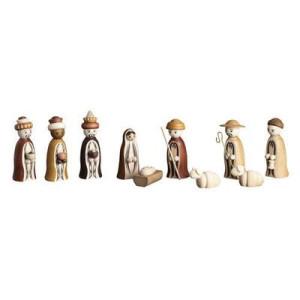 Krippenfiguren Christi Geburt natur H= 8cm NEU