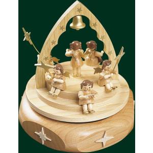 Spieluhr Spieldose Engelkonzert Natur 22er Spielwerk Seiffen NEU 85141