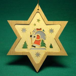 Baumbehang Stern + Weihnachtsmann 8 cm Christbaumschmuck Baumschmuck NEU 11313