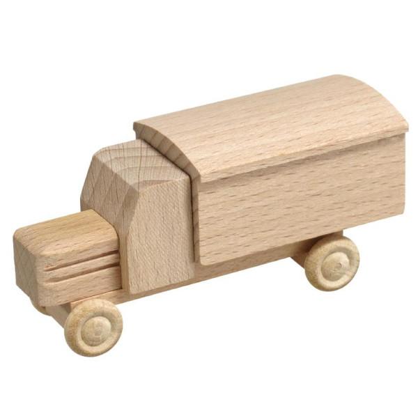 Holzspielzeug Lastenauto Kasten natur HxBxT 3,5x7,5x3cm NEU