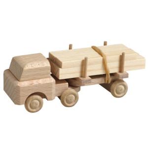 Holzspielzeug Lastenauto mit Auflieger mit Langholz natur HxBxT 3,5x7,5x3cm NEU