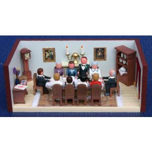 Miniaturstube Geburtstagsstube BxHxT 11x4x6 cm NEU