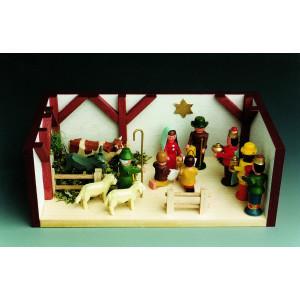 Miniaturstube Krippenstube BxHxT 11x4x6 cm NEU