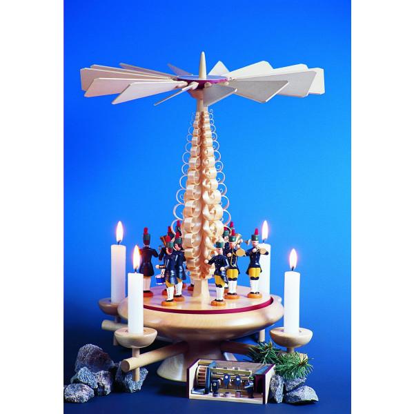 Weihnachtsdekoration Tischpyramide mit Christi Geburt LxBxH 28x28x45 cm NEU