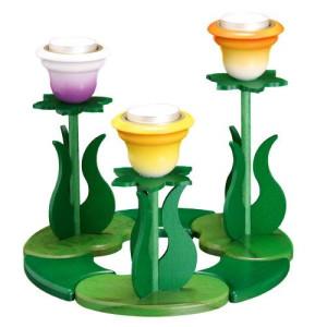 Kerzenhalter Blumen mit Teelichter HxLxB 20x21x21cm NEU