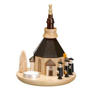Kerzenhalter Kurrende mit Seiffener Kirche HxLxB 20x16x16cm NEU