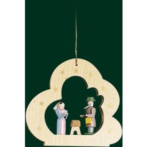 Christbaum Wolke mit Heiliger Familie Baumbehang Weihnachtsbaumschmuck NEU 13431