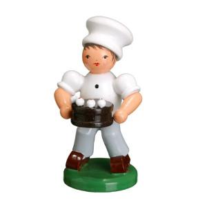 Bäckerkind Bäckerjunge mit Torte ESCO Volkskunst Oster Deko Seiffen NEU 9353