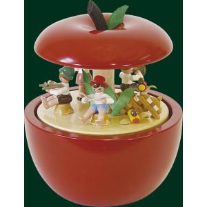 Spieluhr Spieldose Apfel Kinderkonzert 18er Spielwerk Seiffen Erzgebirge 08535