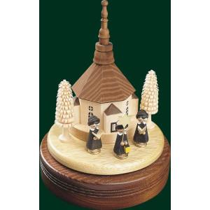 Spieluhr Spieldose Seiffner Kirche 18er Spielwerk Seiffen Erzgebirge NEU 08515