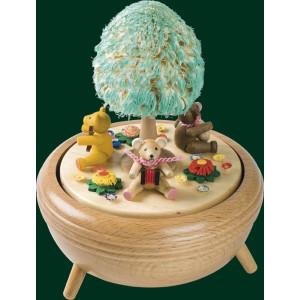 Spieluhr Spieldose Teddys 18er Spielwerk Seiffen Erzgebirge Volkskunst NEU 85044