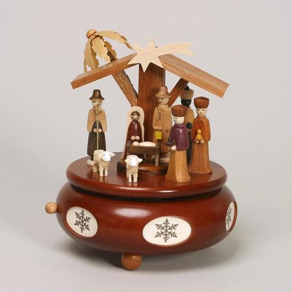 Spieldose Christi Geburt HxLxB 19x13x13cm NEU