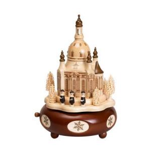 Spieldose Dresdener Frauenkirche HxLxB 21x13x13cm NEU