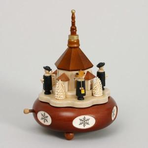 Spieldose Kurrende mit Seiffener Kirche HxLxB 19x13x13cm NEU