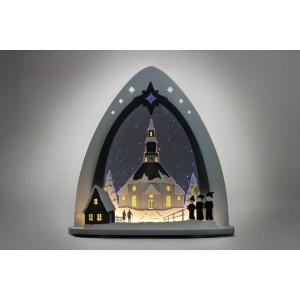 Lichterspitze Seiffener Kirche Länge ca 52cm NEU