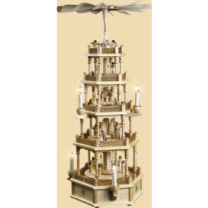 Pyramide Christi Geburt 4 stöckig elektrisch 75 cm NEU