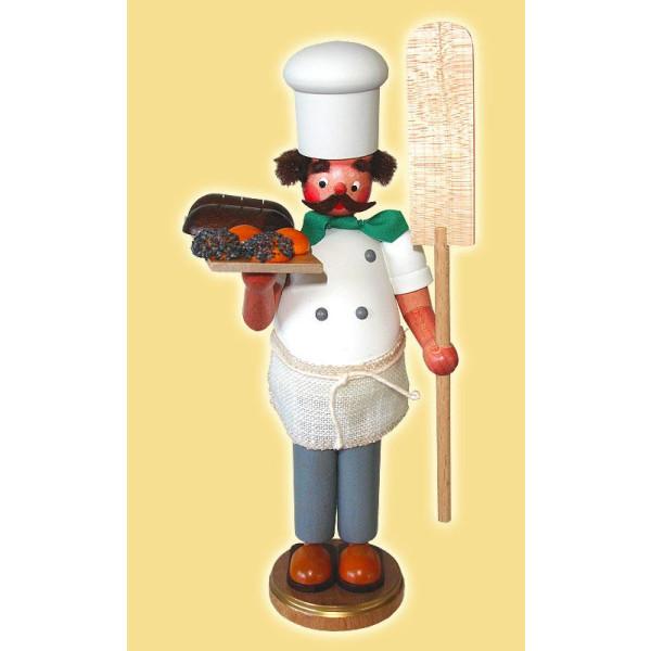Räuchermann Bäcker mit Brot Höhe= 22cm NEU