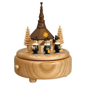 Spieldose mit Kirche Kurrende bunt BxHxT 13x16x13cm NEU
