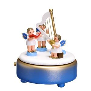 Spieldose Engel mit Instrumente bunt BxHxT 13x15x13 cm NEU