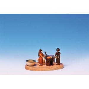 Tischdekoration Kerzensockel Christi Geburt bunt Größe 6cm NEU