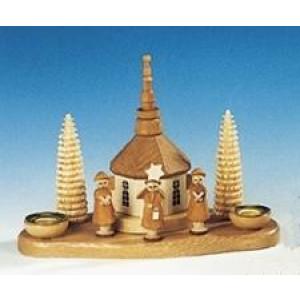Kerzenständer Kurrende mit Kirche natur Größe 14 cm NEU