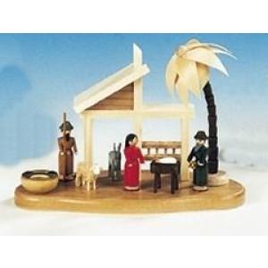 Kerzenständer Christi Geburt bunt Größe 14 cm NEU
