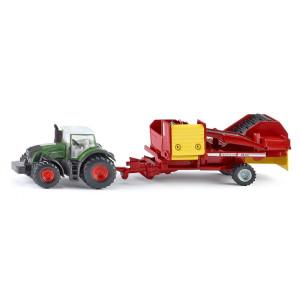 1808 Siku Farmer Traktor mit Kartoffelroder 1:87 NEU