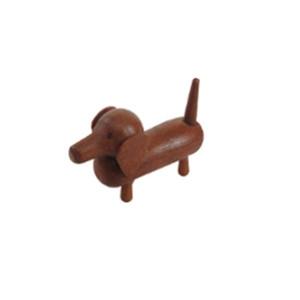 Miniaturfigur Holzfigur Dackel Höhe=2cm NEU