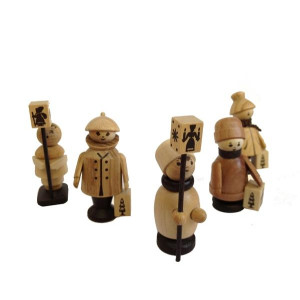 Miniaturfigur Laternenkinder natur Höhe=6-9cm NEU
