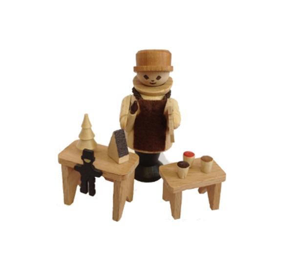 Miniaturfigur Spielwarenmann natur Höhe=6cm NEU