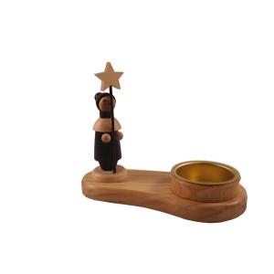 Kerzenhalter Sternträger natur mit Teelicht Höhe=10cm NEU