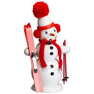 Räucherfigur Schneemann mit Ski Höhe ca 30 cm NEU