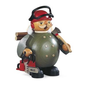 Räucherfigur Räuchermann klein Waldarbeiter mit Motorsäge (BxH):12x14cm NEU