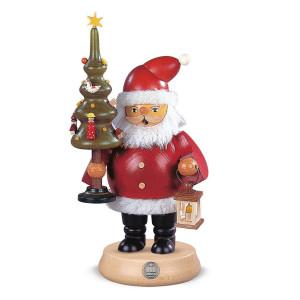 Räucherfigur Räuchermann mittelgroß Weihnachtsmann mit Baum (BxH):13x23cm NEU
