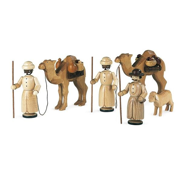 Weihnachtsfiguren Kamelkarawane natur Höheca:12cm NEU