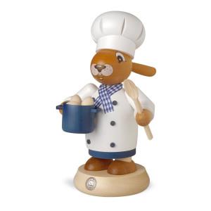 Räucherfigur Räucherhase Koch farbig groß (BxH):11x19cm NEU
