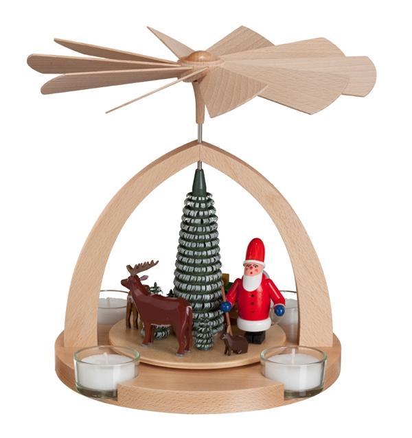 Tischpyramide Weihnachtsmann bunt BxHxT 20,5x22x20cm NEU