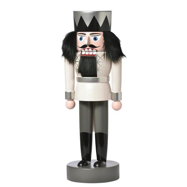 Nussknacker König weiß 25 cm NEU