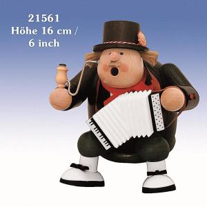 Räucherfigur Kantenhocker-Musiker 16 cm NEU