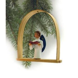 Baumbehang Engel mit Buch im Bogen Höhe=13cm NEU