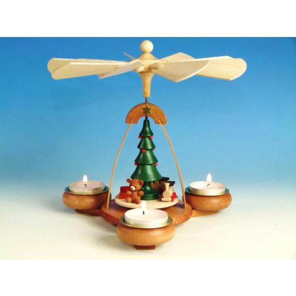 Teelichtpyramide Bescherung HxB 19x19,5cm NEU