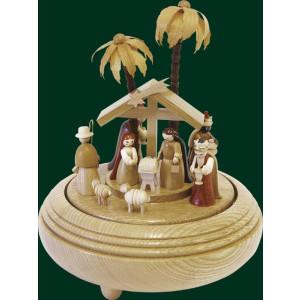 Spieldose Christi Geburt natur, 22er Spw. Stille Nacht 20 cm NEU