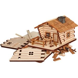 Bastelset Blockhaus HxBxT = 9x11x15cm NEU