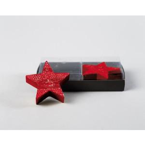 Kerze Stern rot 2er Set Ø 7cm, Höhe 2cm NEU