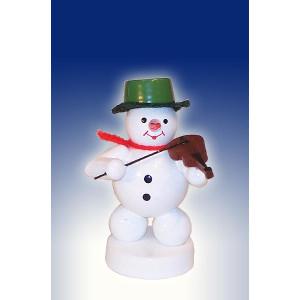 Weihnachtsdekoration Schneemann mit Geige Höhe 8cm NEU